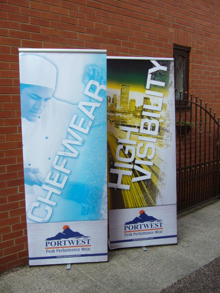 Portwest roller banners