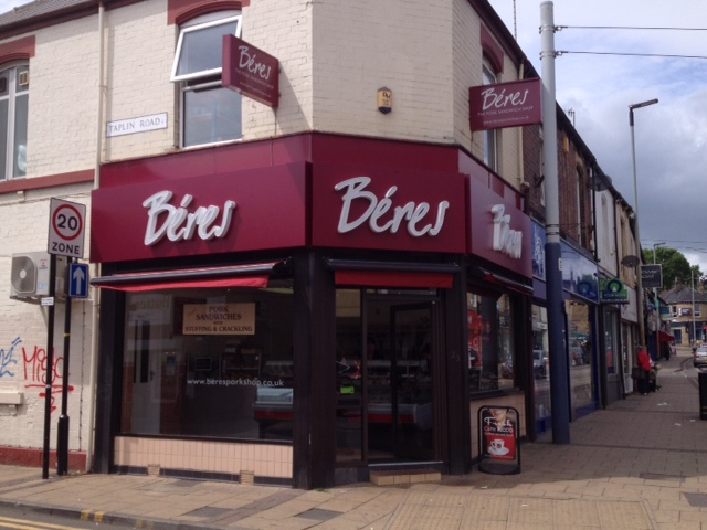 Case Study: Illuminated 3D Shop Signs Sheffield for Beres Pork Shops