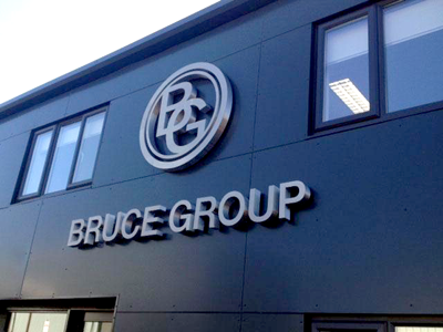Bruce Group 3d shop sign in Sheffield
