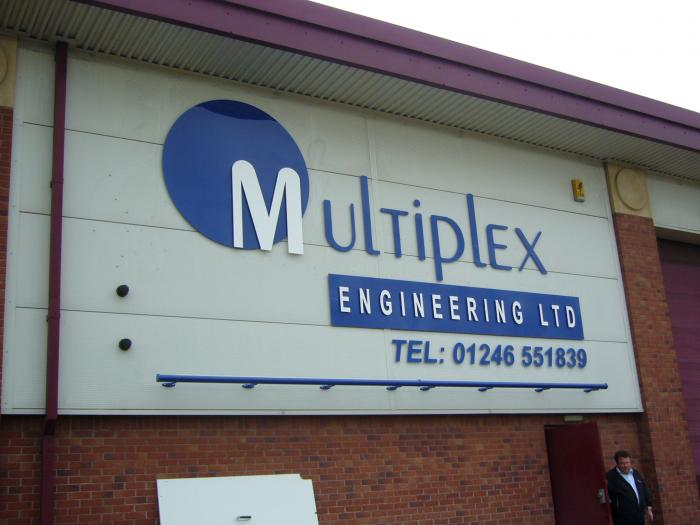 Multiplex large commercal business signs Sheffield