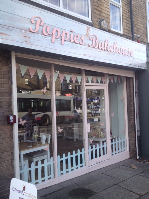 Poppies bake house shop sign Sheffield