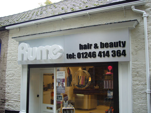 Rume built up signs Sheffield