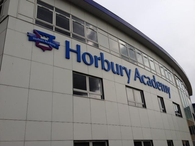 School signage for Horbury Academy
