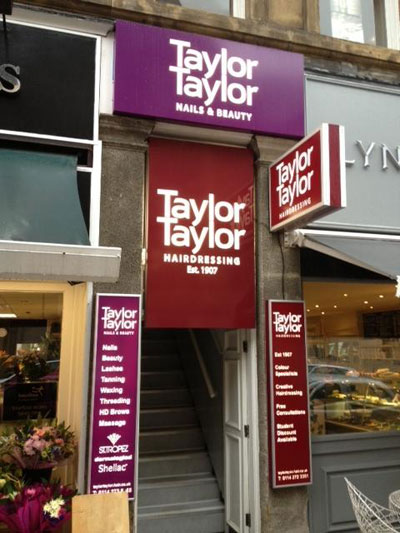 Shop Sign Sheffield for Hair Dressers Taylor Taylor