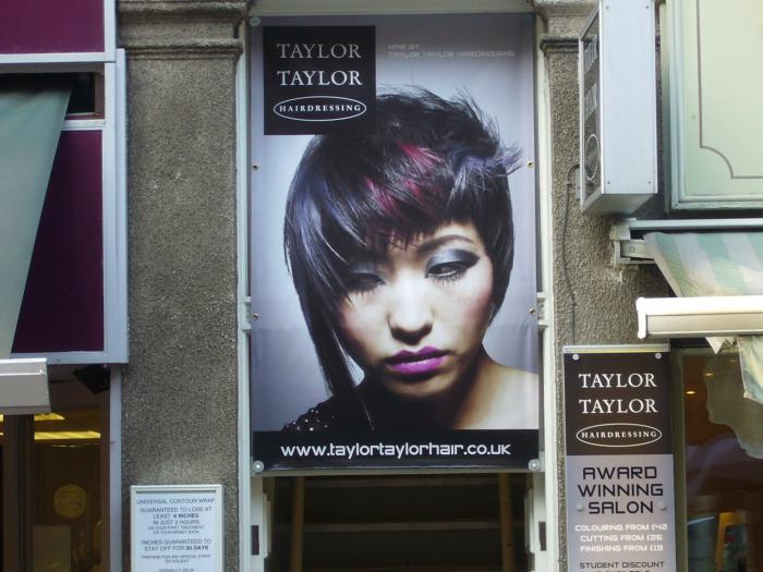 Taylor Taylor digitally printed shop banners in Sheffield