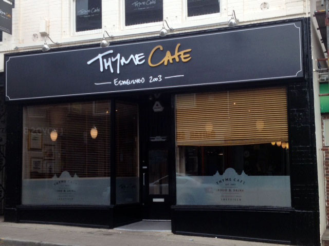 Thyme for a New Sign at Sheffield Cafe
