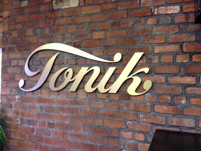 Tonik CNC routered shop signs Sheffield