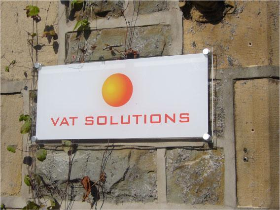 VAT Solutions businss wall plaque