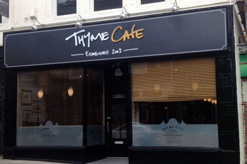 Thyme Cafe - restaurant signs Sheffield