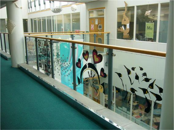 Sheffield Hallam University Balustrade digital printing