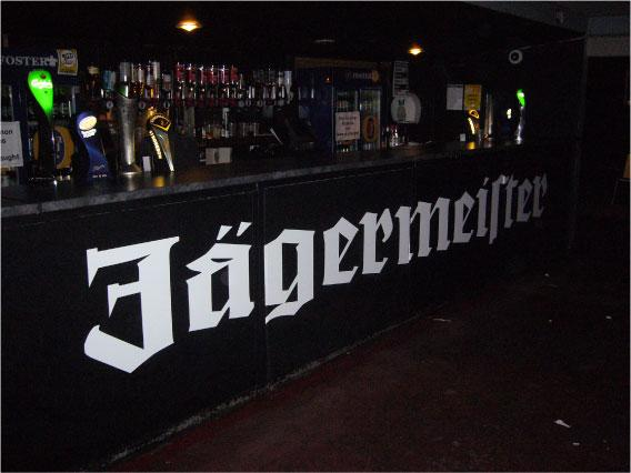 Corporation - Jagermeister logo digital printing for bar
