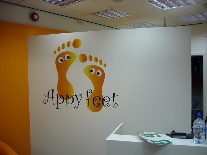 Happy Feet digital printing