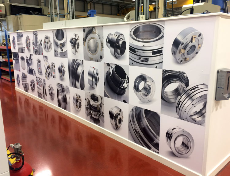Large format digital printing for AESSEAL