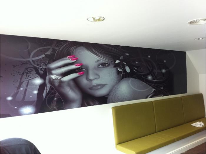 Wall vinyl digital printing