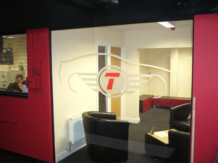 Top cars internal window graphics